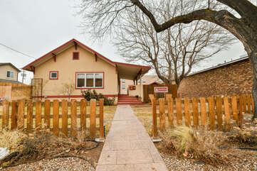 Outdoor Entrance to the Scarlet Cottage Rental