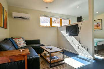 Living Area inside the Scarlet Moab Cottage Rental