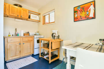 Dining Area and Fully Loaded Kitchen in This Romantic Moab Utah Rental