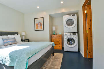 Bedroom with Washer and Dryer