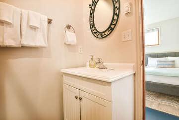 A Bathroom Located in our Moab Utah Rental