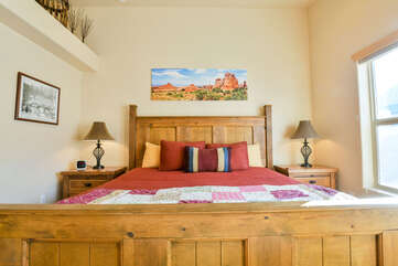 Master Bedroom in this Rim Village Rental Home