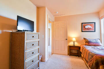 Third Bedroom with TV Rim Village Lodging