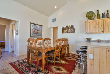 Beautiful Dining Room Area in this Rim Village Rental