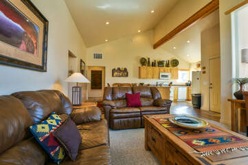 Cozy Living Room Lodging Rim Village Vacation Rental