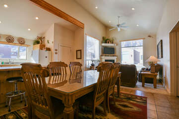 Spacious Dining Area in this Rim Village Lodging Rental