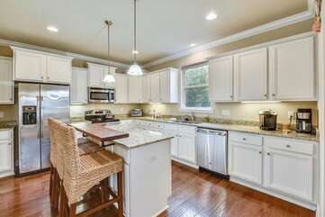 Large kitchen with island