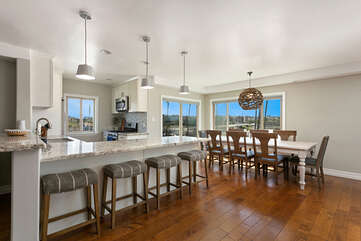 Beautifully updated Kitchen with plenty of seating for everyone!