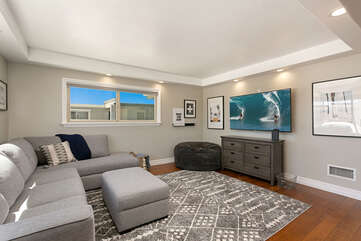 Plenty of room for movie night in this cozy second living area!