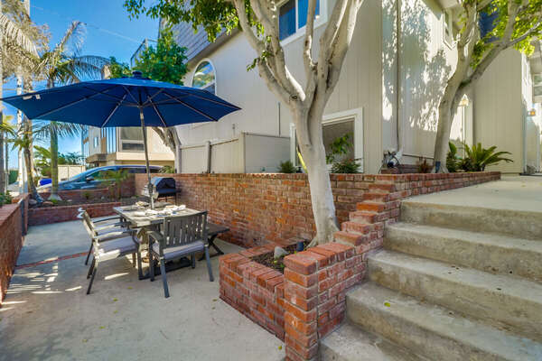 Patio of this Vacation Rental Near San Diego with a  Bay View.
