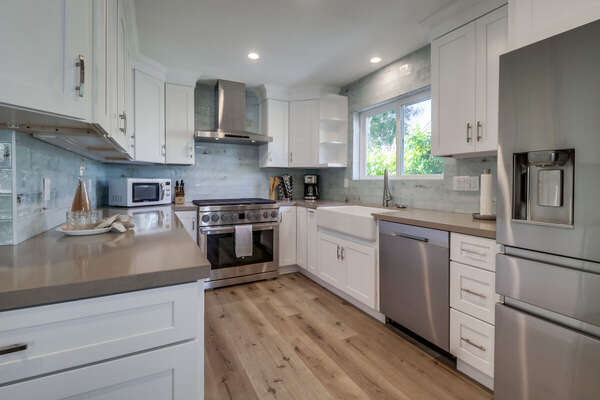 Kitchen on the Second Floor with modern appliances and ample counter space.