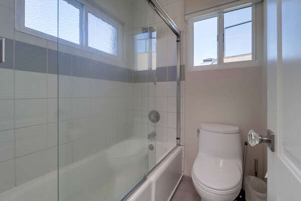 Walk in sink and toilet of the Master Ensuite Bath on the Third Floor