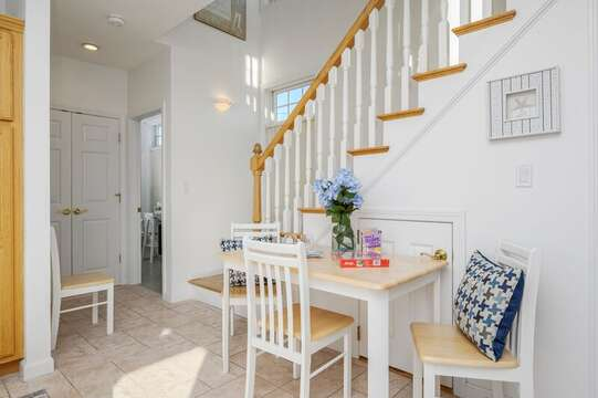 First floor sitting area , great for games or puzzles. First floor bath is off to the right. 27 Fiddlers Green Lane-Dennis Port-New England Vacation Rentals