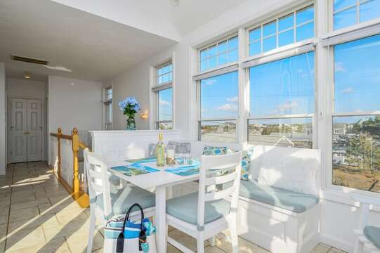 Open concept dining and kitchen with great views! 27 Fiddlers Green Lane-Dennis Port-New England Vacation Rentals
