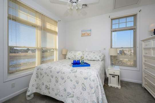 Queen bed with dresser , night stand with great marsh views. 27 Fiddlers Green Lane-Dennis Port-New England Vacation Rentals