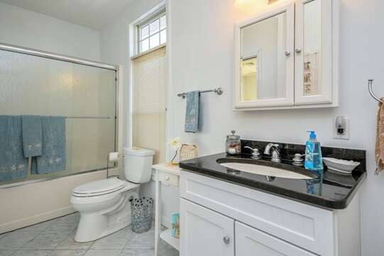 Full Bath with tub and shower 27 Fiddlers Green Lane-Dennis Port-New England Vacation Rentals