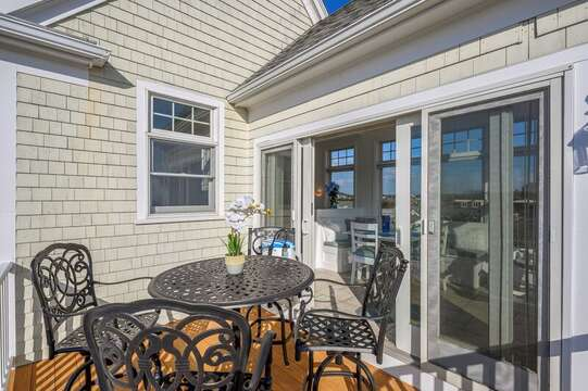One of 3 Decks to enjoy the spectacular ocean and marsh views. 27 Fiddlers Green Lane-Dennis Port-New England Vacation Rentals
