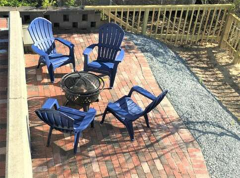 Fire pit on the patio! .27 Fiddlers Green Lane-Dennis Port-New England Vacation Rentals