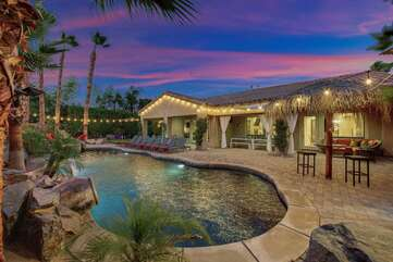 Take a dip in the pool and enjoy they desert sunsets!