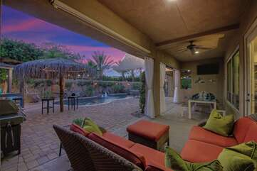Lounge out and enjoy the view on comfortable patio furniture.