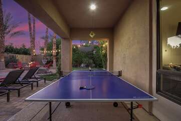Challenge your friend to a game of ping pong, distract them with the beautiful views of the desert!
