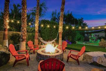 When the sun sets, head out to the fire pit (and second hammock) to plan your next vacation with Vacay Stay!