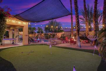 Enjoy a John Daily and some relaxing golf at the 5 hole putting green.