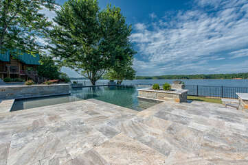 NEW pool overlooking Lake Norman! Shared pool for both The Lodge at Azalea Retreat and The Cottage at Azalea Retreat.