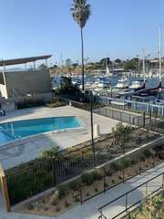 Enjoy the harbor view while getting refreshed at the pool.