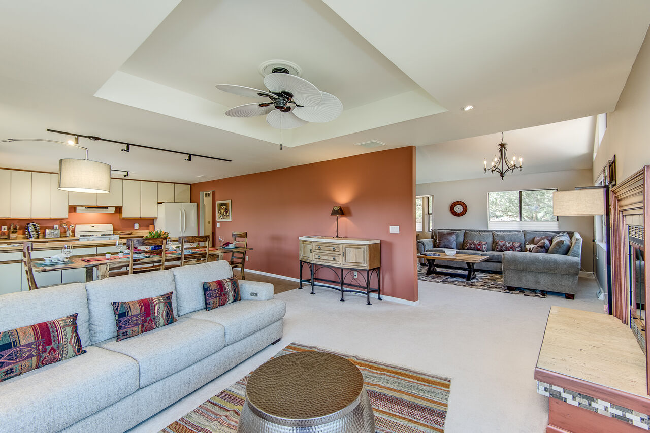 Family Room Open to the Dining Area and Kitchen