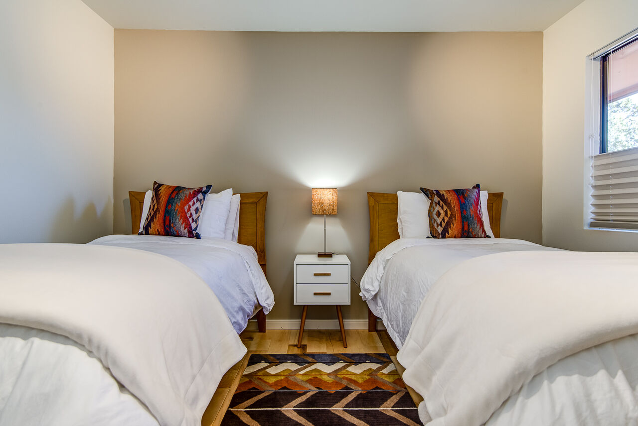 Bedroom 3 with Two XL Twin Beds (Or Put Together for a King Upon Request and $30 Fee)