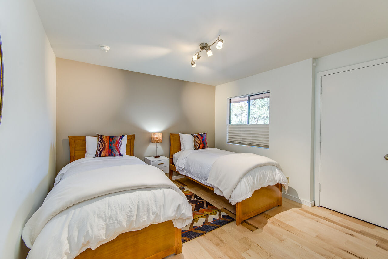 Bedroom 3 with Two XL Twin Beds (Or Put Together for a King Upon Request and $30 Fee) and Full Shared Bath Access