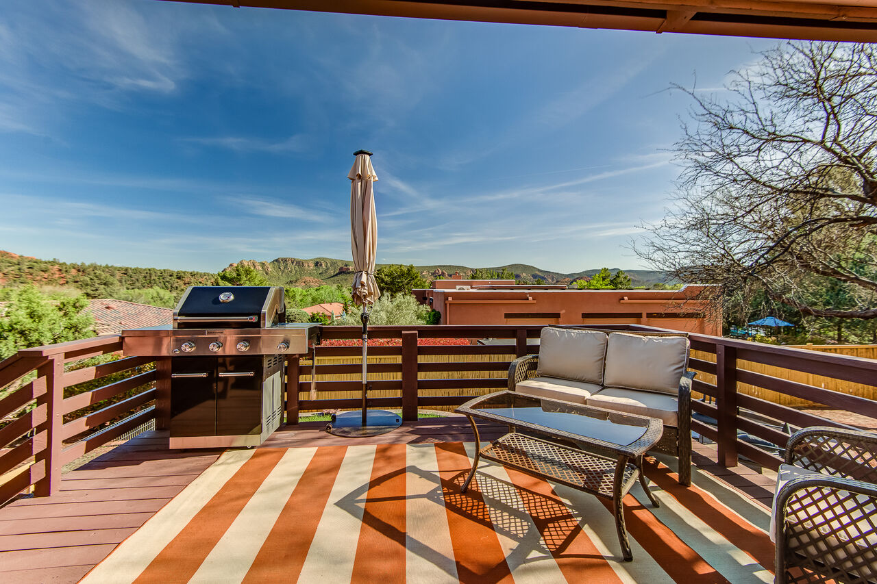 Back Deck with Patio Seating and Amazing Views