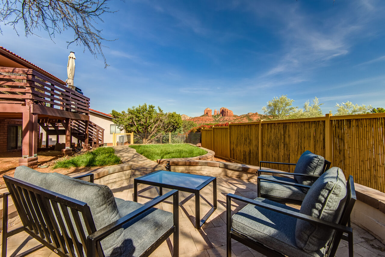 Relax in the Private Yard While Taking in the Views