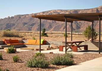 Private patio with plenty of seating
