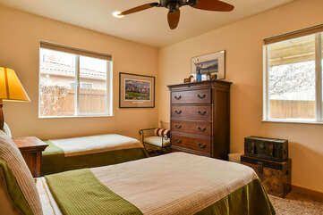 Third Bedroom with Two Beds and Chester Drawers