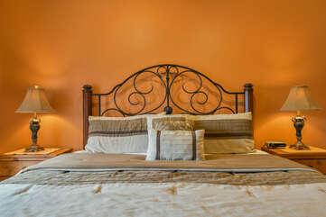 Master Bedroom Cottonwoods Rental