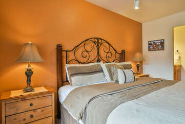 Cozy Master Bedroom with Copper Paint