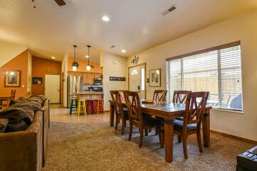 Livingroom and Dining Area Lodging in Moab Utah Area
