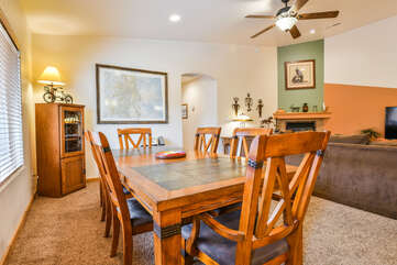 Cozy Dining Room with Guest Seating