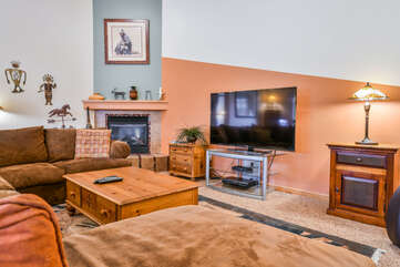 Living Area and Entertainment Center Lodging in Moab Utah