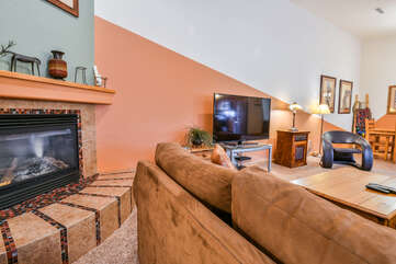 Fireplace and Living Area Lodging in Moab Utah Area