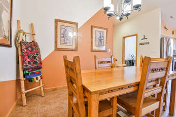 Dining Area with Great Lighting Lodging in Moab Utah Area