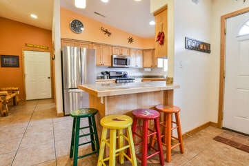 Kitchen Countertop with Barstool Seating