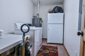 Laundry and Utility Room with Extra Fridge