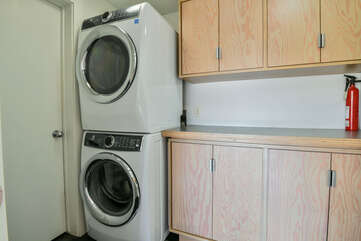 Laundry room with a washer and dryer