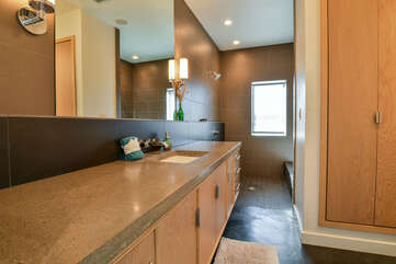 Master bathroom with lots of counter space