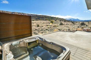 Private hot tub with a view