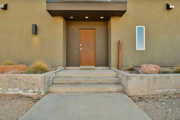 Entrance of our Moab Utah vacation home