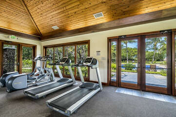 Treadmills with a View of the Pool